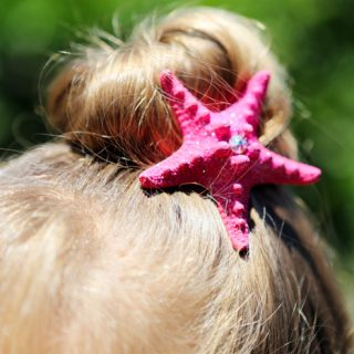 DIY Starfish Hair Accessories for your little Mermaids!