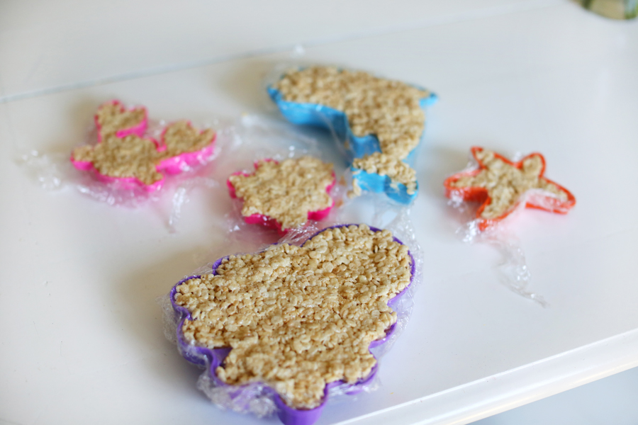 Ocean Themed Rice Krispie Treats