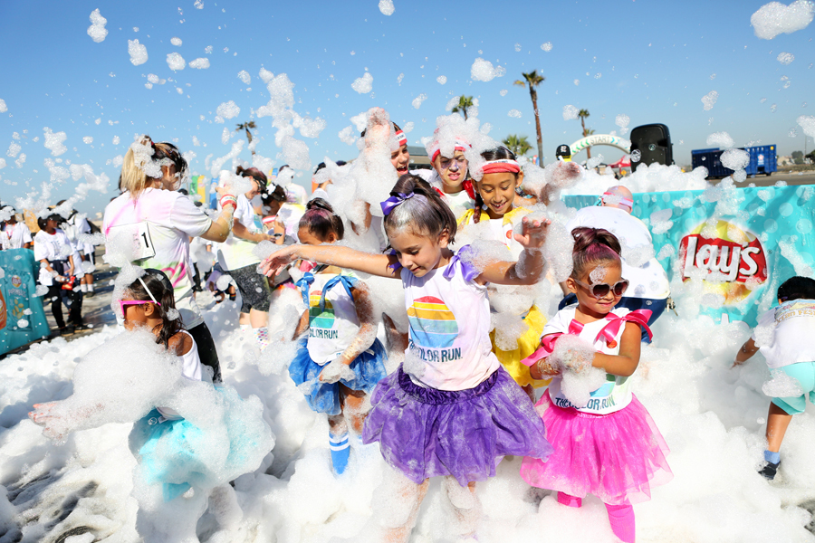 The Color Run Foam Zone